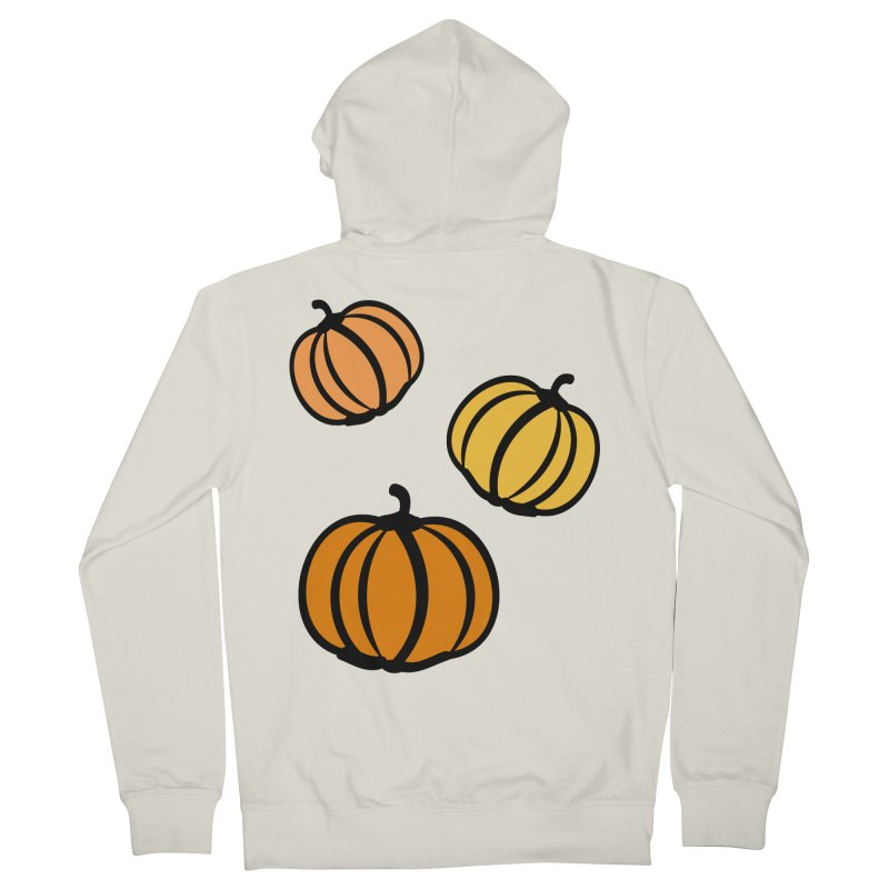Pumpkins Men's French Terry Zip-Up Hoody by cindyshim's Artist Shop