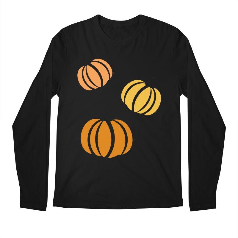 Pumpkins Men's Regular Longsleeve T-Shirt by cindyshim's Artist Shop