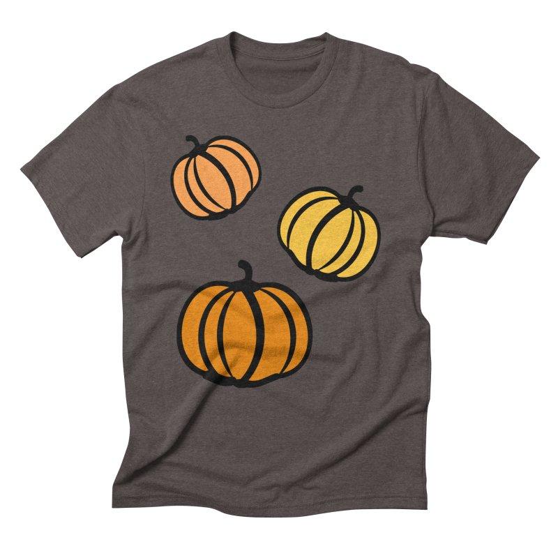 Pumpkins Men's Triblend T-Shirt by cindyshim's Artist Shop