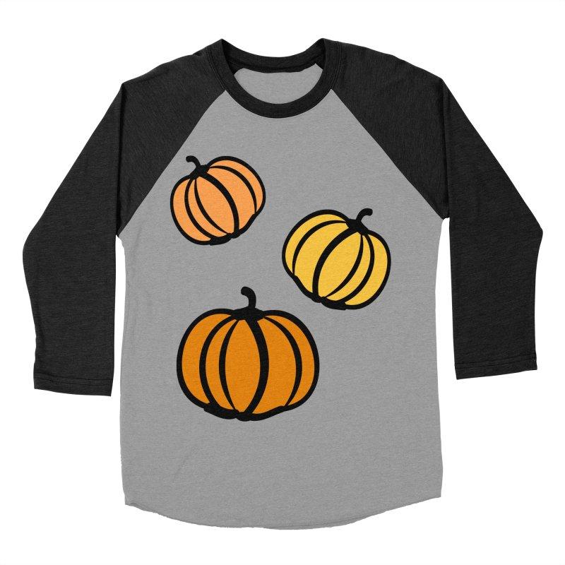 Pumpkins Women's Baseball Triblend Longsleeve T-Shirt by cindyshim's Artist Shop