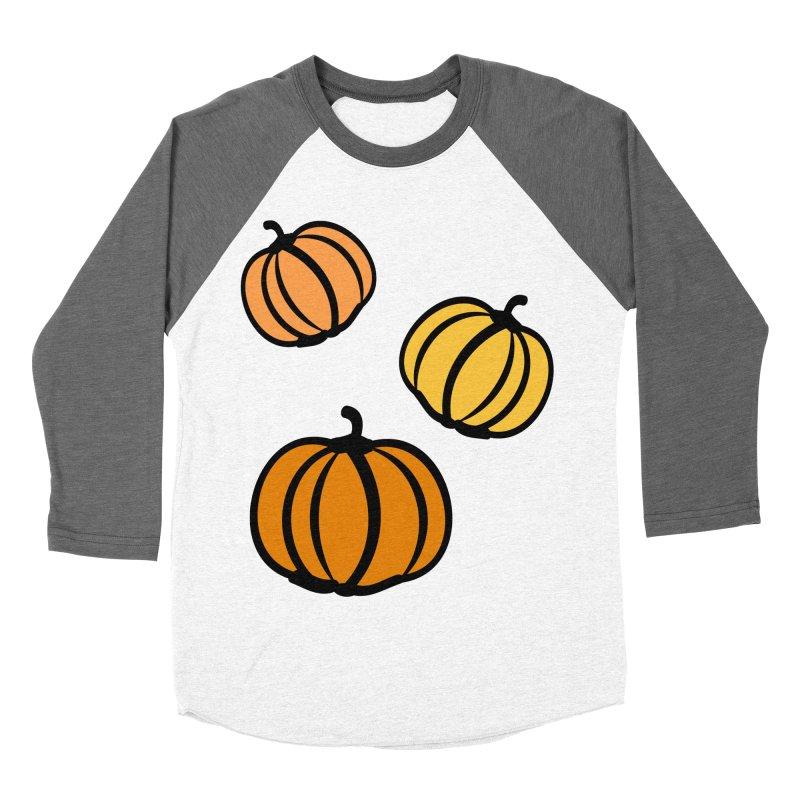 Pumpkins Men's Baseball Triblend Longsleeve T-Shirt by cindyshim's Artist Shop