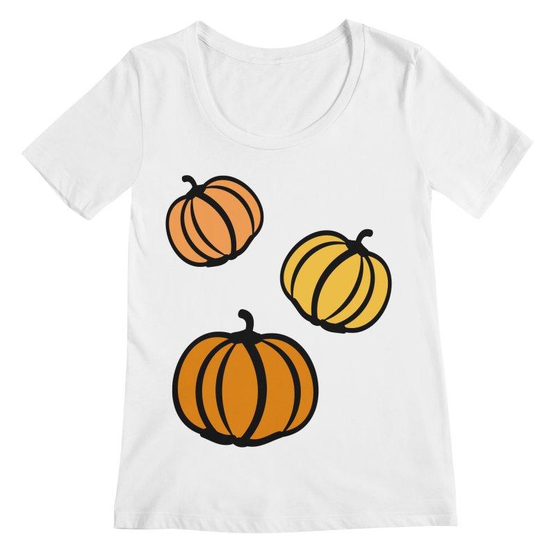 Pumpkins Women's Regular Scoop Neck by cindyshim's Artist Shop