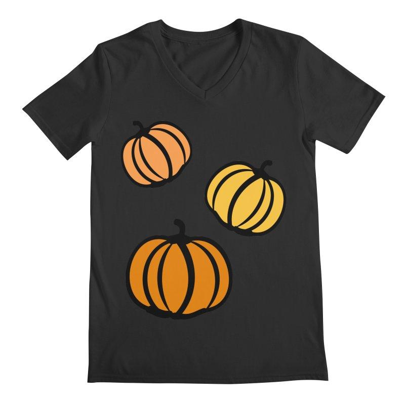 Pumpkins Men's Regular V-Neck by cindyshim's Artist Shop