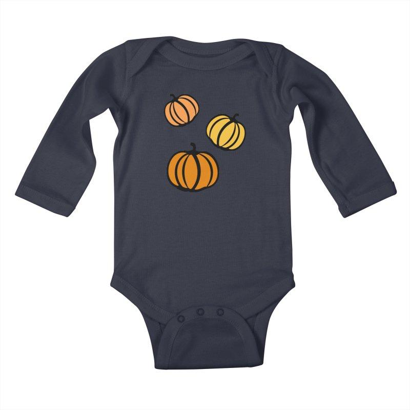 Pumpkins Kids Baby Longsleeve Bodysuit by cindyshim's Artist Shop