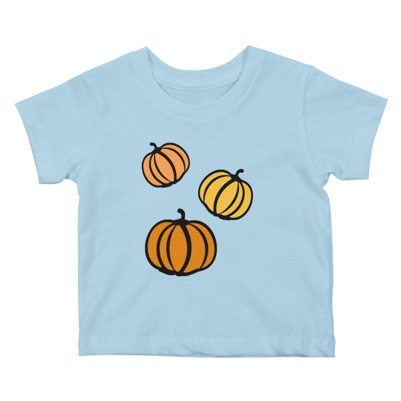 Pumpkins Kids Baby T-Shirt by cindyshim's Artist Shop