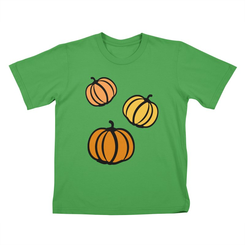 Pumpkins Kids T-Shirt by cindyshim's Artist Shop