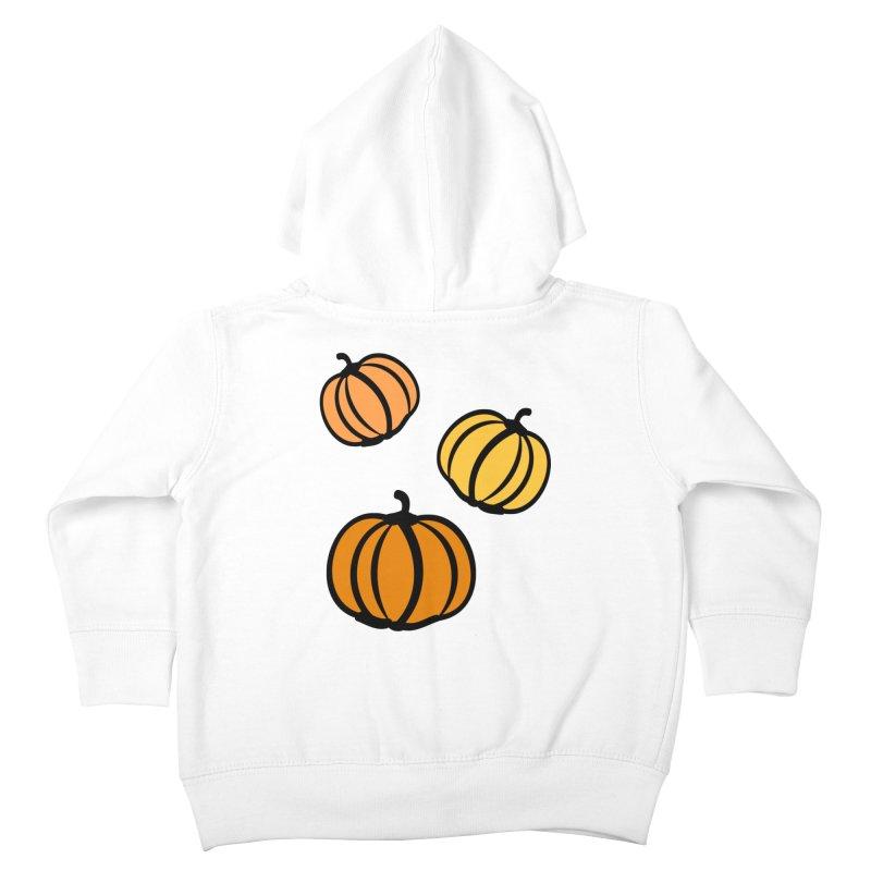 Pumpkins Kids Toddler Zip-Up Hoody by cindyshim's Artist Shop