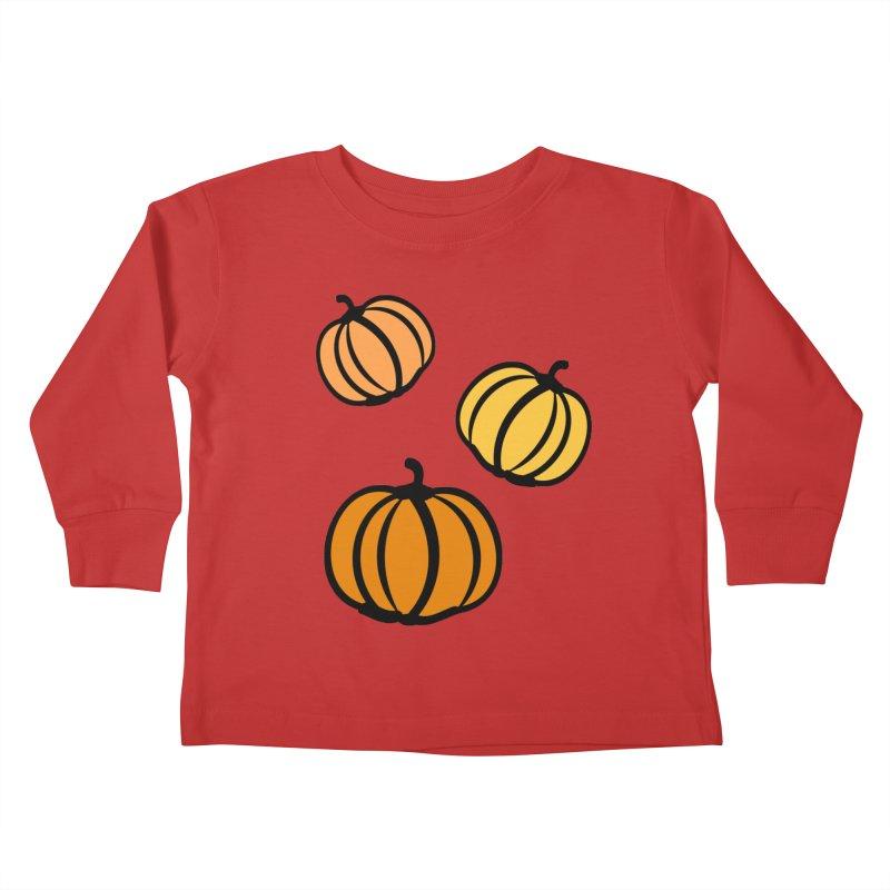 Pumpkins Kids Toddler Longsleeve T-Shirt by cindyshim's Artist Shop