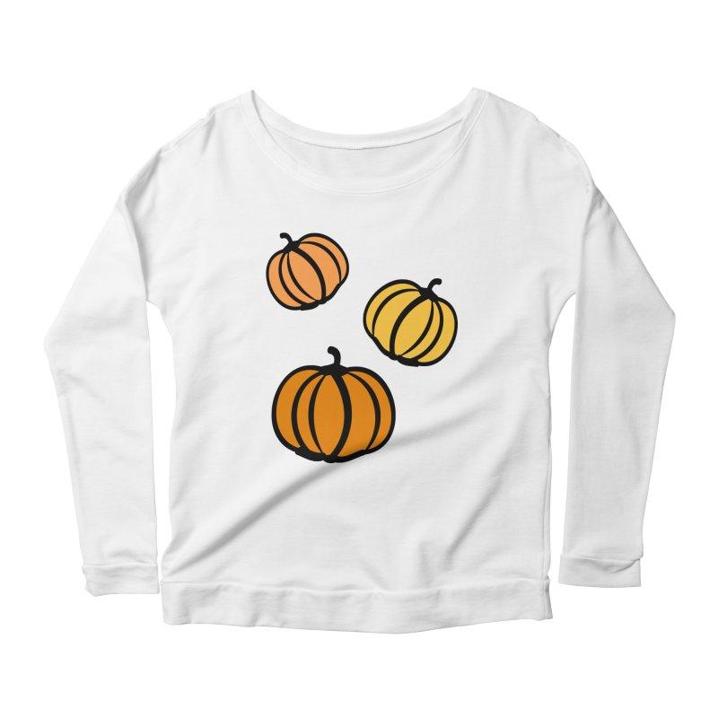 Pumpkins Women's Scoop Neck Longsleeve T-Shirt by cindyshim's Artist Shop