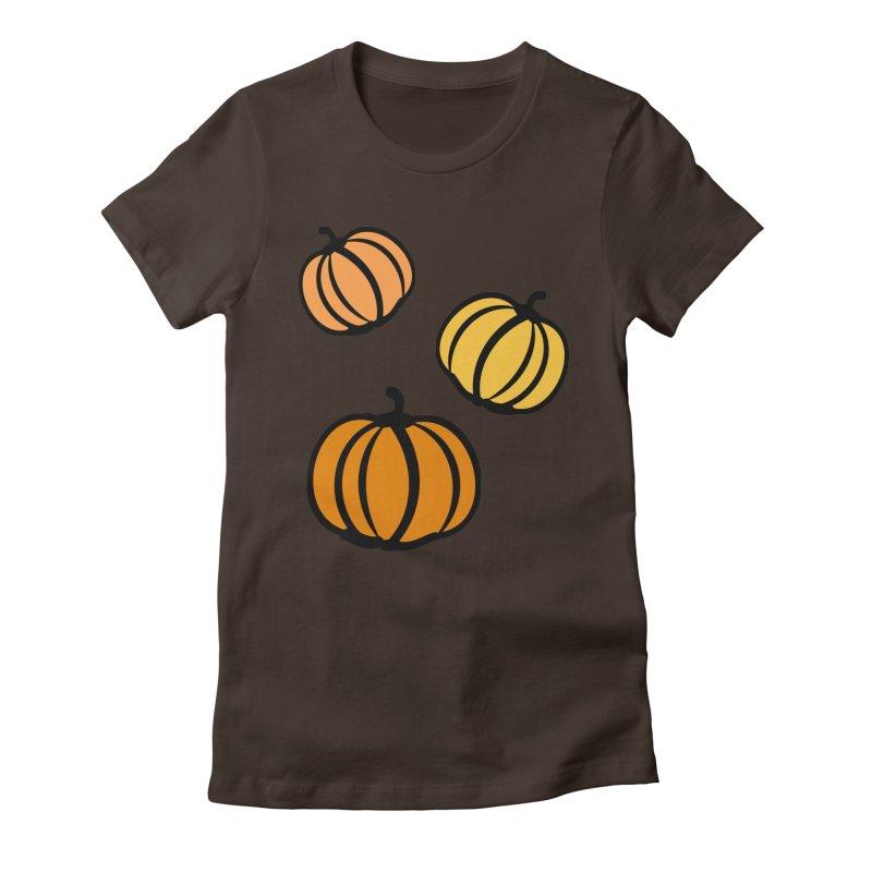 Pumpkins Women's Fitted T-Shirt by cindyshim's Artist Shop