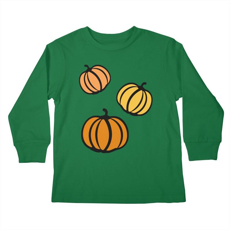 Pumpkins Kids Longsleeve T-Shirt by cindyshim's Artist Shop