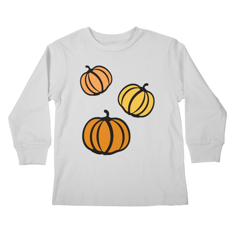 Pumpkins Kids Longsleeve T-Shirt by cindyshim's Artist Shop