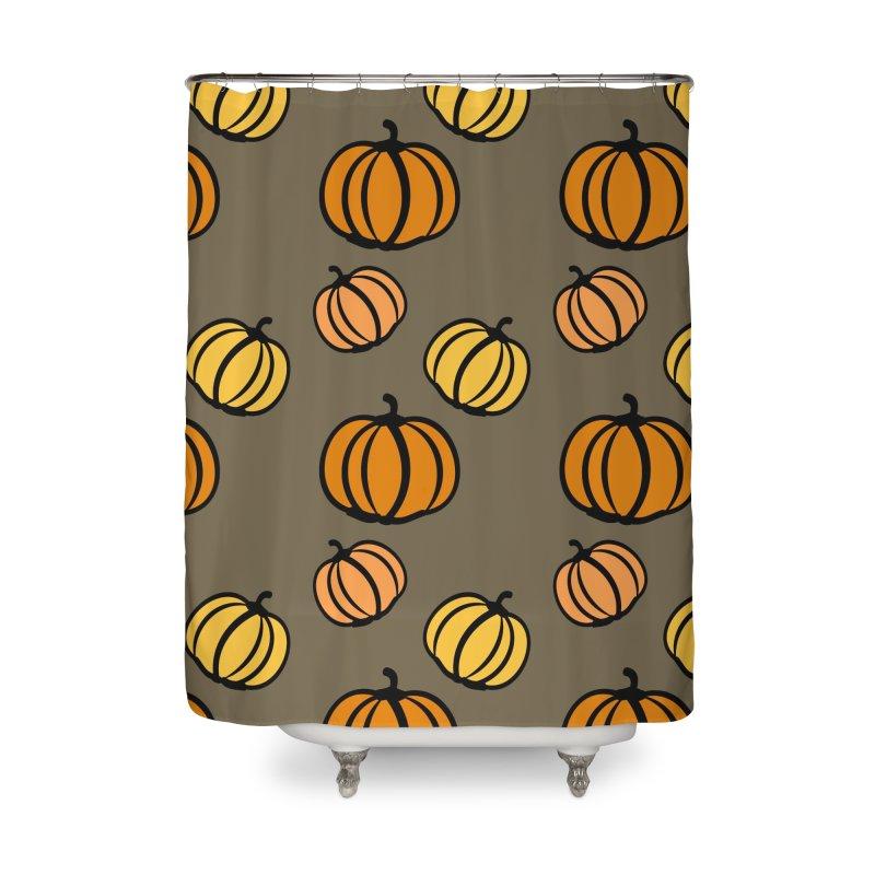 Pumpkins Home Shower Curtain by cindyshim's Artist Shop