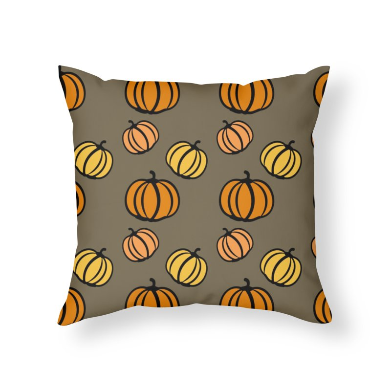 Pumpkins Home Throw Pillow by cindyshim's Artist Shop