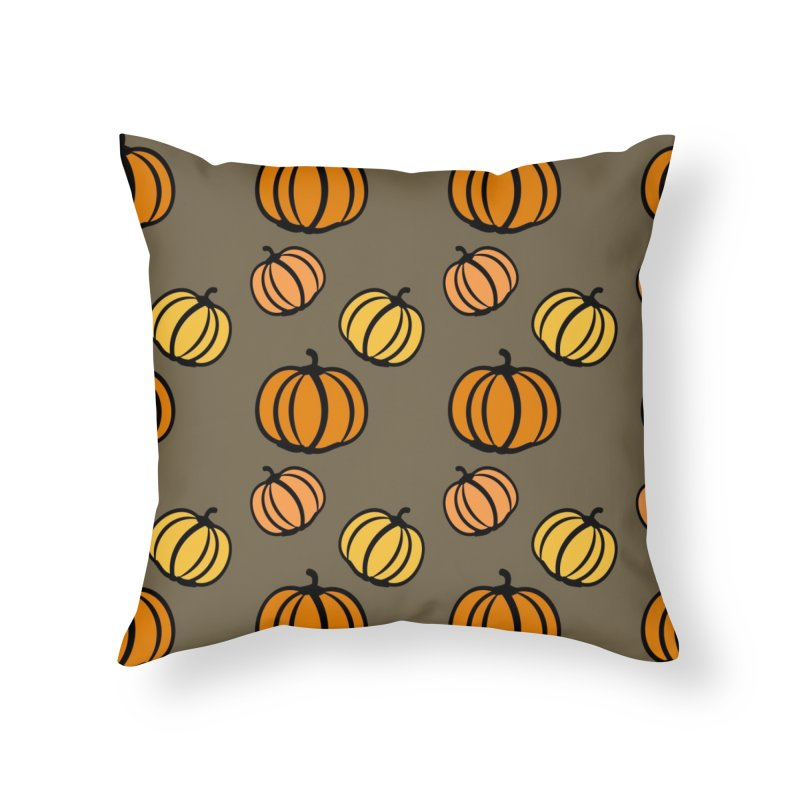 Pumpkins Home Throw Pillow by cindyshim's Artist Shop