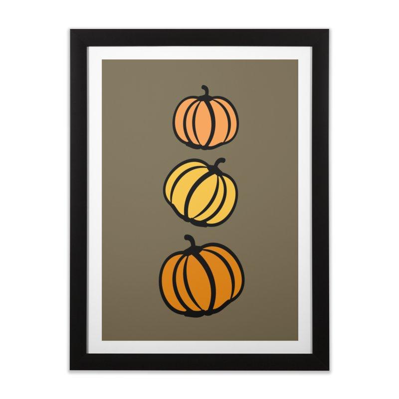 Pumpkins Home Framed Fine Art Print by cindyshim's Artist Shop
