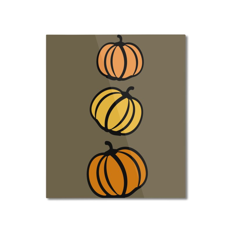 Pumpkins Home Mounted Aluminum Print by cindyshim's Artist Shop