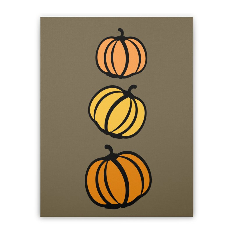 Pumpkins Home Stretched Canvas by cindyshim's Artist Shop
