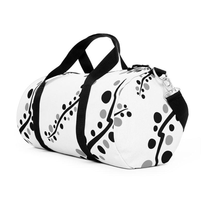 bubbles stripe pattern 1 Accessories Duffel Bag Bag by cindyshim's Artist Shop