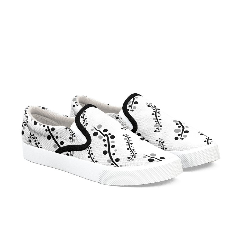 bubbles stripe pattern 1 Women's Slip-On Shoes by cindyshim's Artist Shop