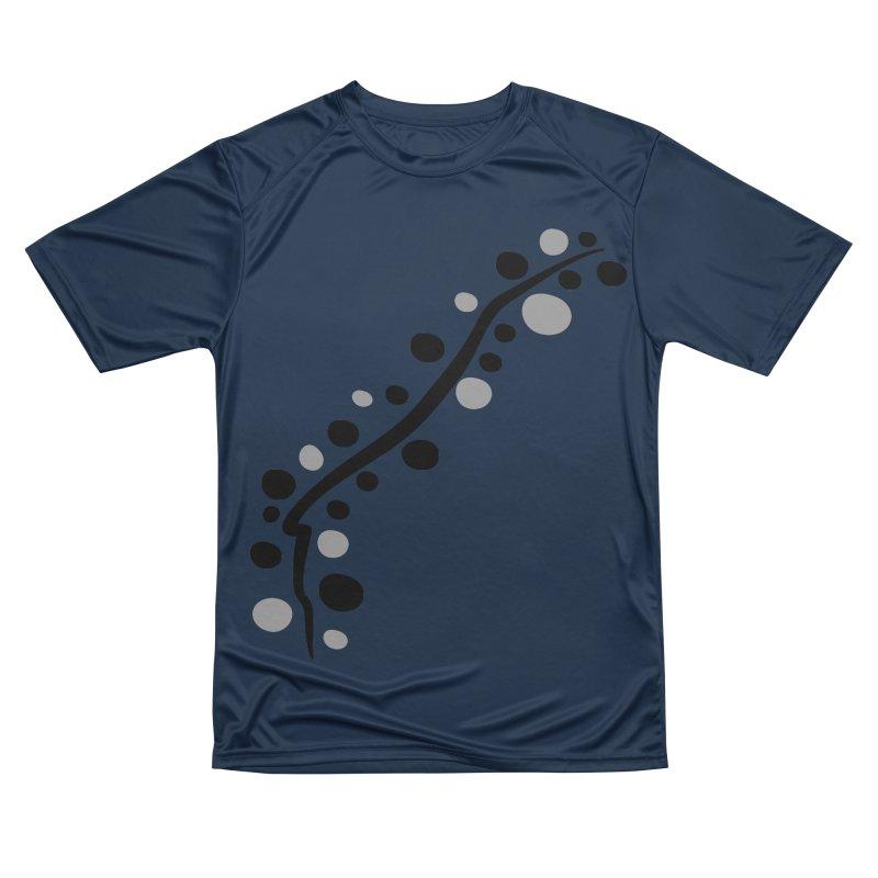 bubbles stripe pattern 1 Women's Performance Unisex T-Shirt by cindyshim's Artist Shop