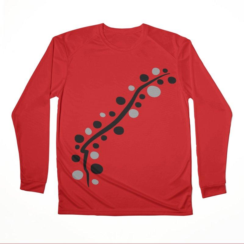 bubbles stripe pattern 1 Women's Performance Unisex Longsleeve T-Shirt by cindyshim's Artist Shop