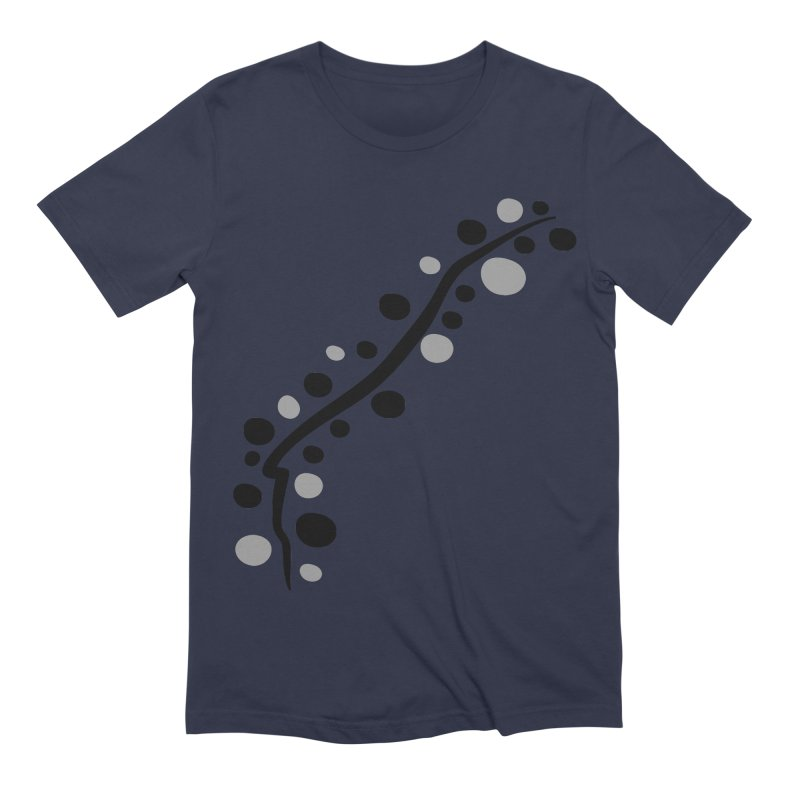 bubbles stripe pattern 1 Men's Extra Soft T-Shirt by cindyshim's Artist Shop