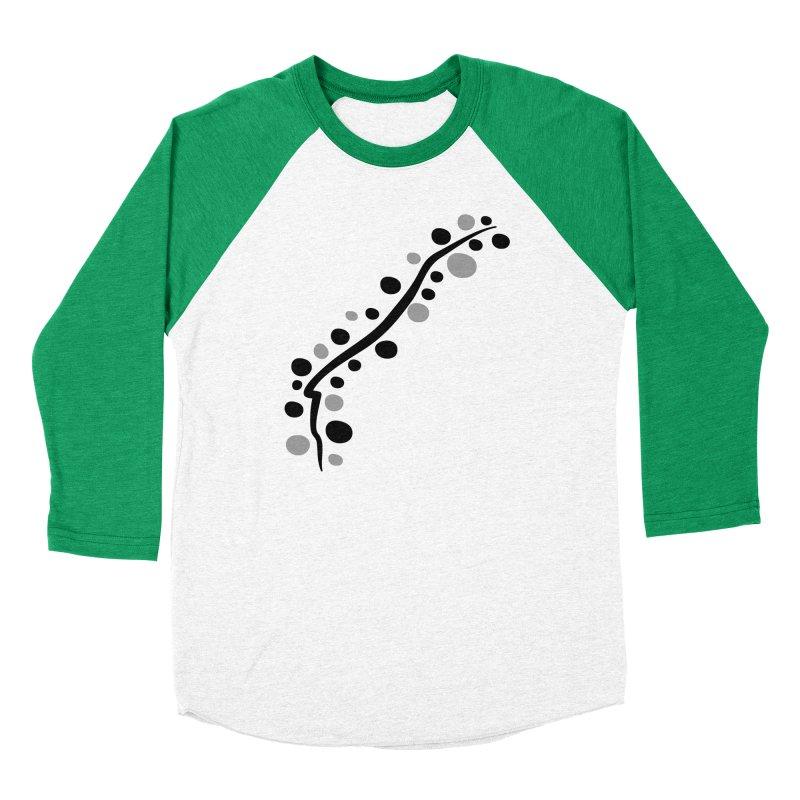 bubbles stripe pattern 1 Men's Baseball Triblend Longsleeve T-Shirt by cindyshim's Artist Shop