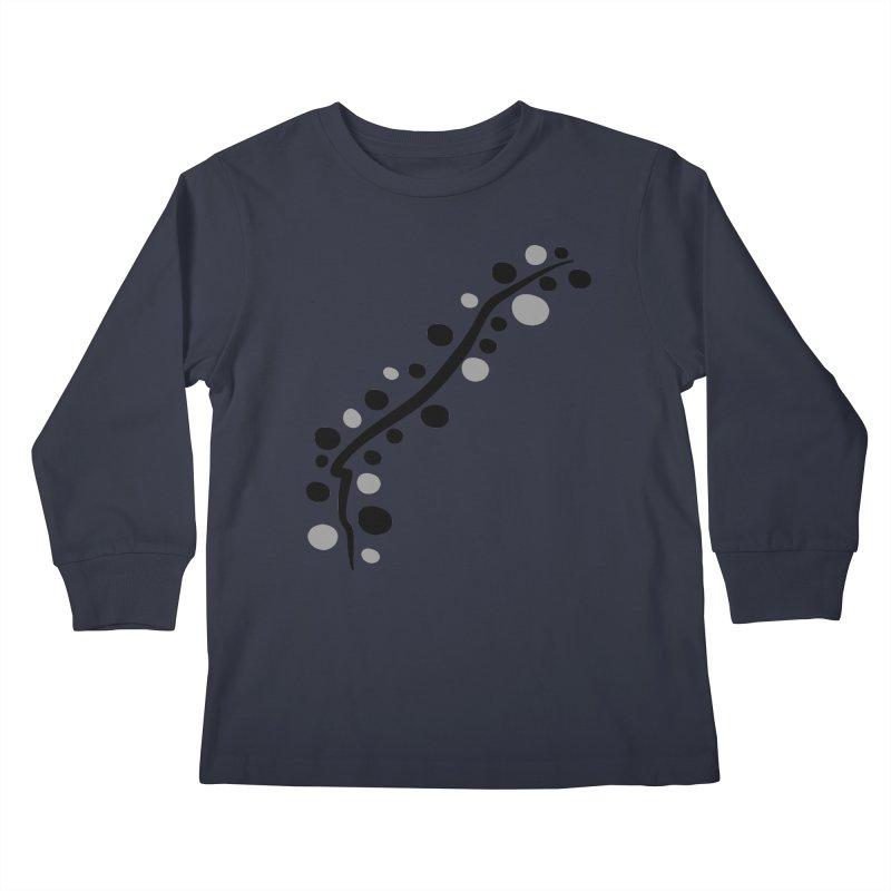 bubbles stripe pattern 1 Kids Longsleeve T-Shirt by cindyshim's Artist Shop