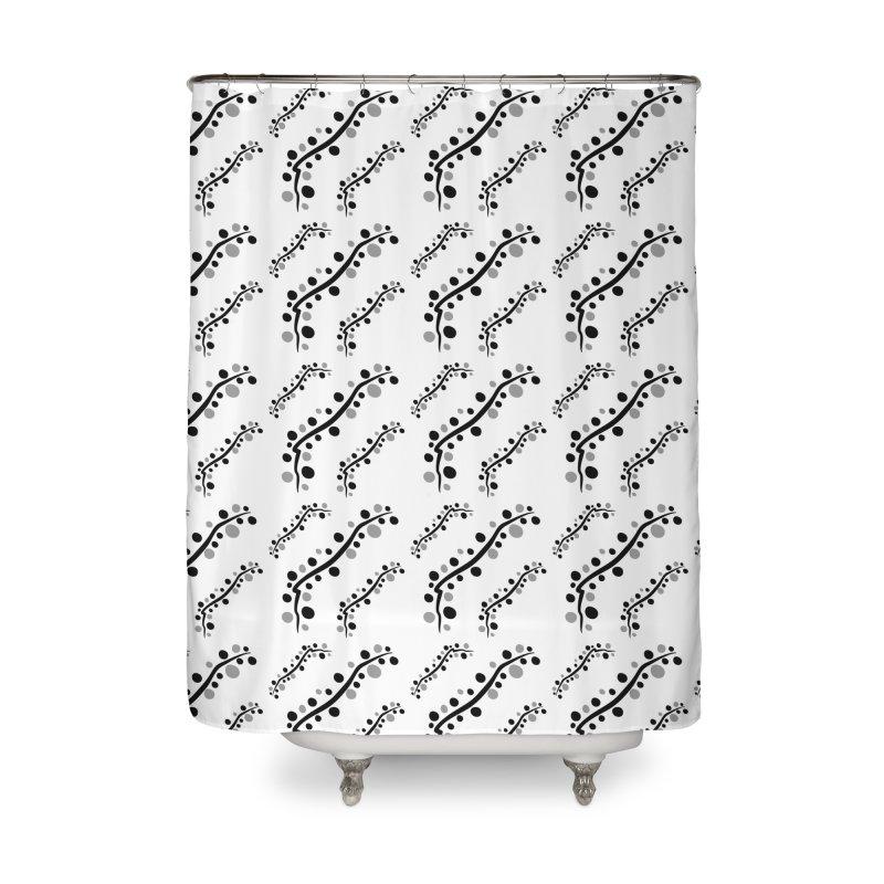 bubbles stripe pattern 1 Home Shower Curtain by cindyshim's Artist Shop