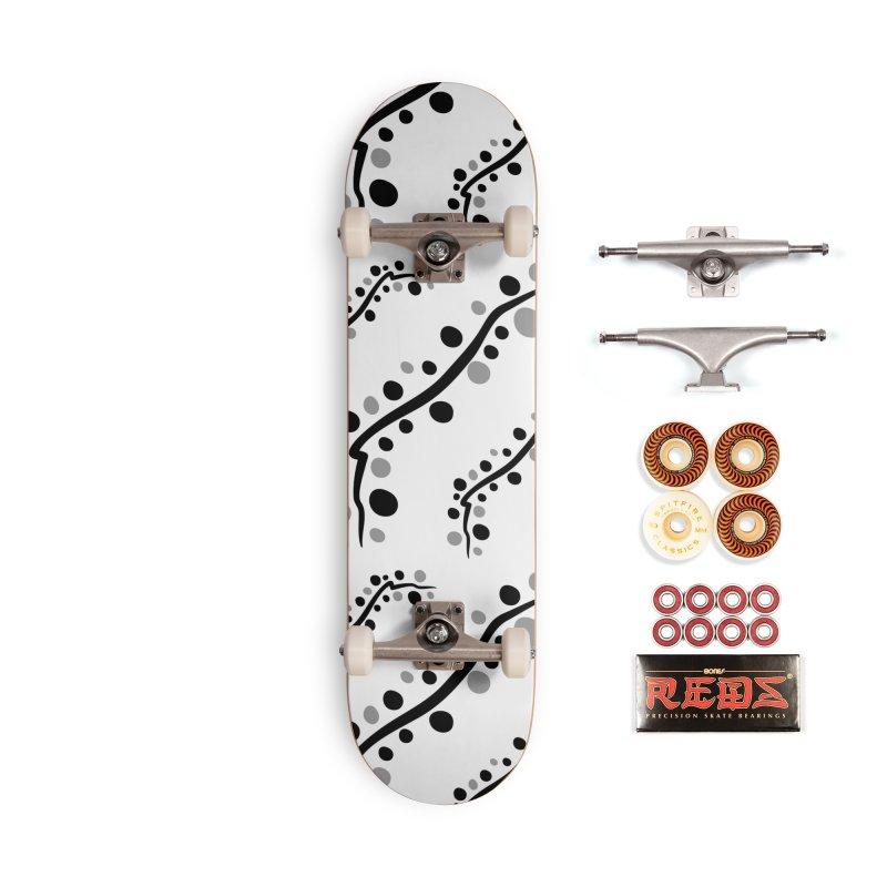 bubbles stripe pattern 1 Accessories Skateboard by cindyshim's Artist Shop