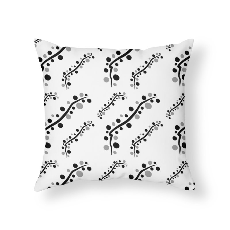 bubbles stripe pattern 1 Home Throw Pillow by cindyshim's Artist Shop