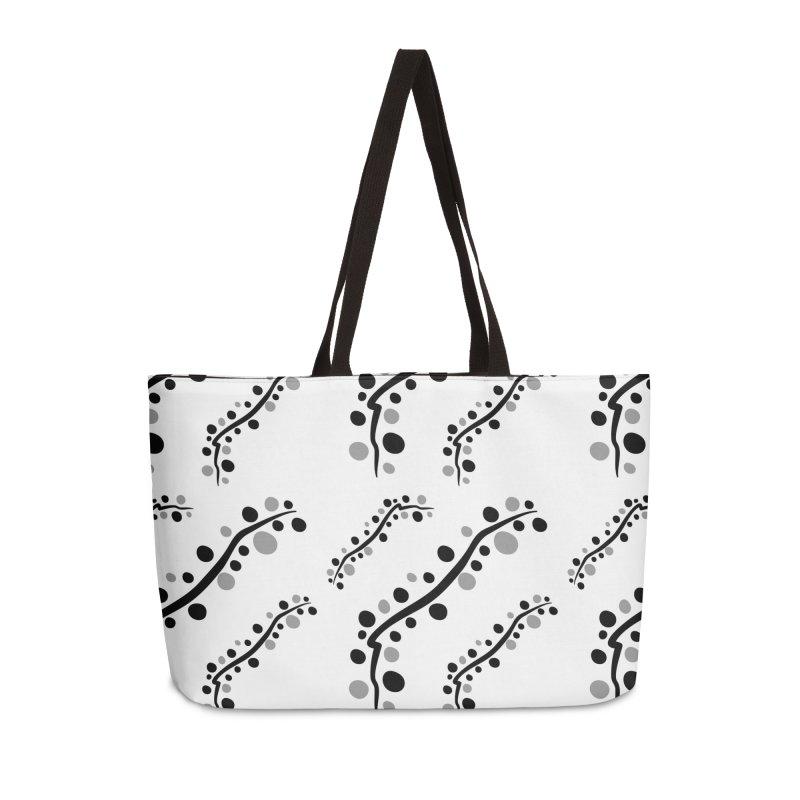 bubbles stripe pattern 1 Accessories Weekender Bag Bag by cindyshim's Artist Shop