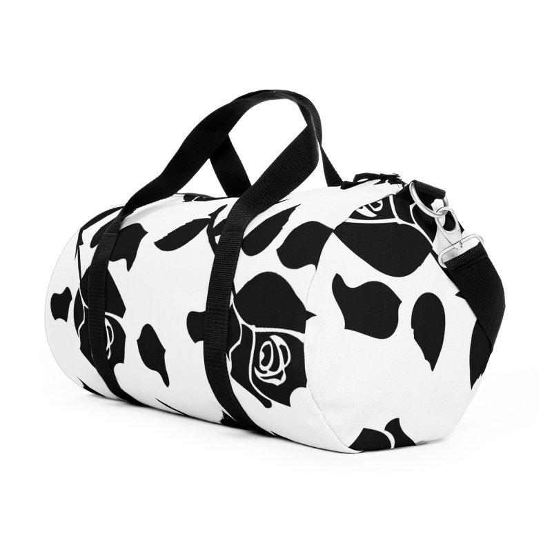Black rose Accessories Duffel Bag Bag by cindyshim's Artist Shop