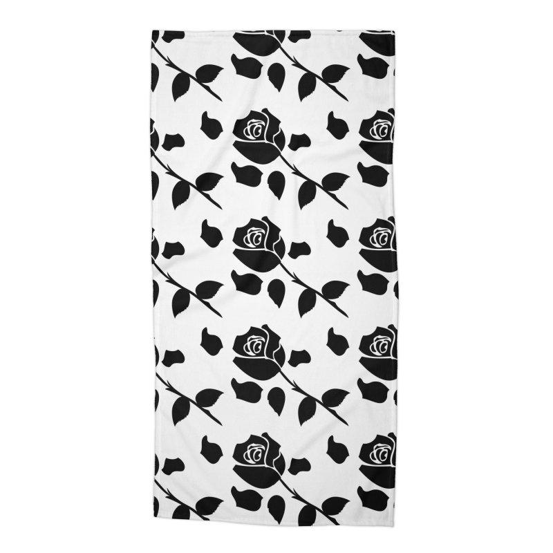 Black rose Accessories Beach Towel by cindyshim's Artist Shop