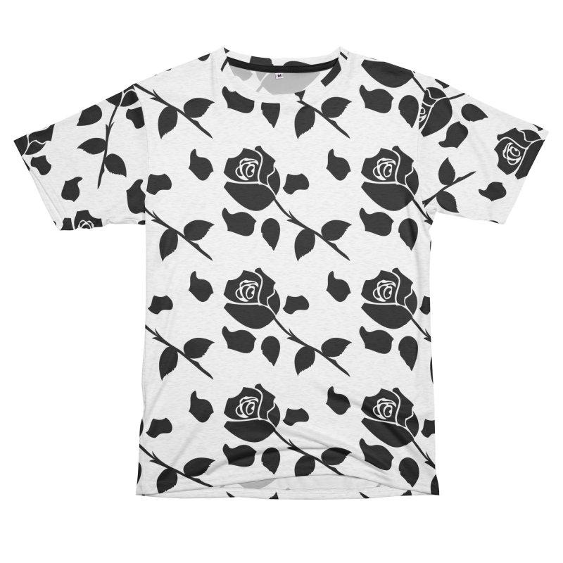 Black rose Men's French Terry T-Shirt Cut & Sew by cindyshim's Artist Shop