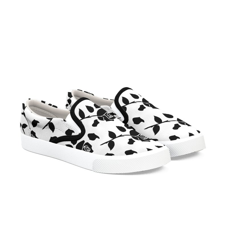 Black rose Women's Slip-On Shoes by cindyshim's Artist Shop