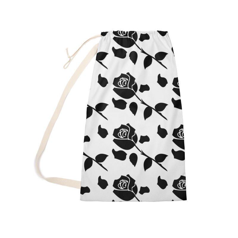 Black rose Accessories Laundry Bag Bag by cindyshim's Artist Shop