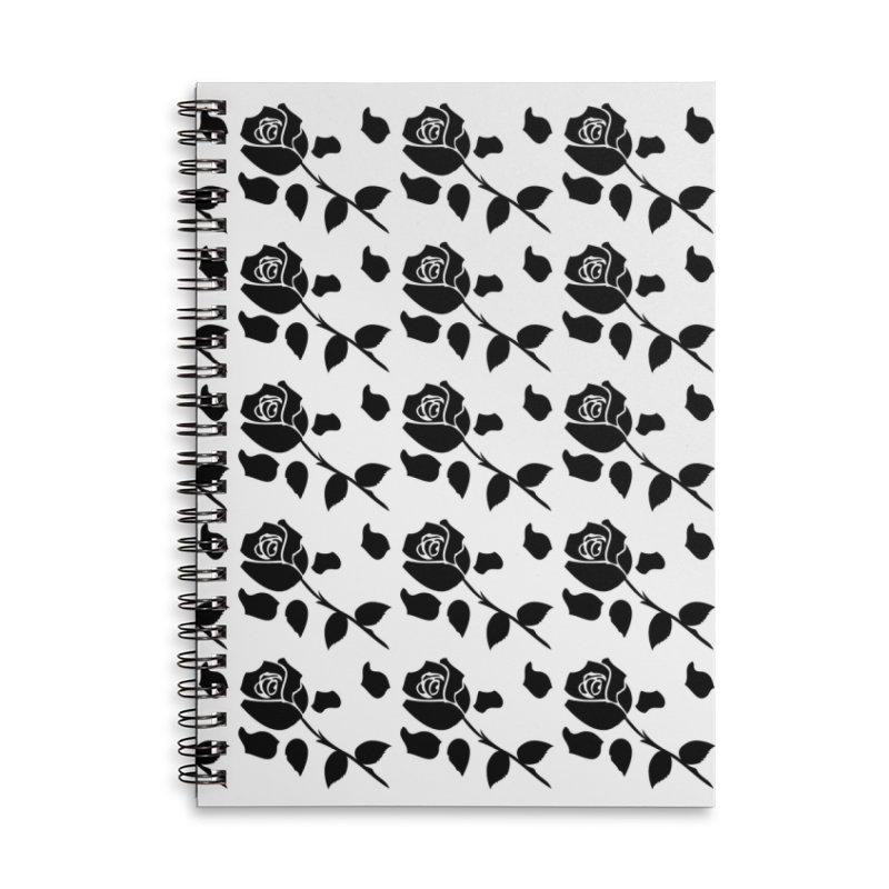 Black rose Accessories Lined Spiral Notebook by cindyshim's Artist Shop