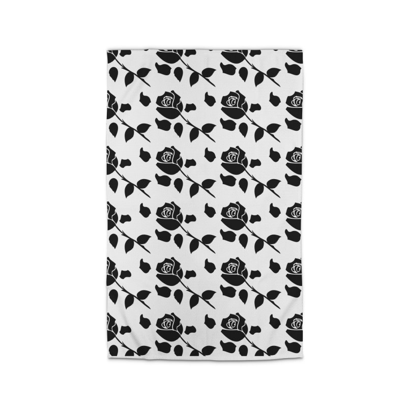 Black rose Home Rug by cindyshim's Artist Shop