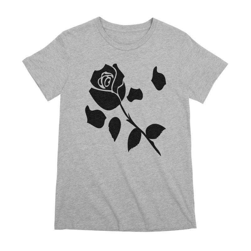 Black rose Women's Premium T-Shirt by cindyshim's Artist Shop