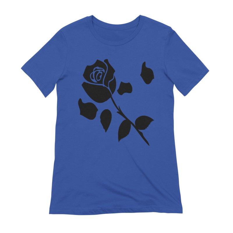 Black rose Women's Extra Soft T-Shirt by cindyshim's Artist Shop