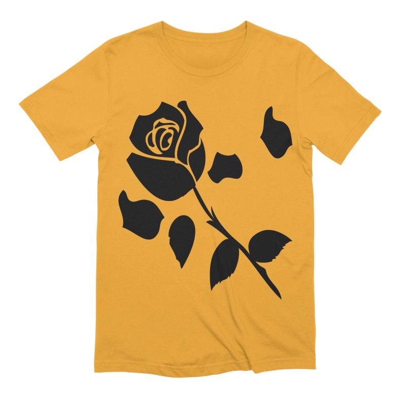Black rose Men's Extra Soft T-Shirt by cindyshim's Artist Shop