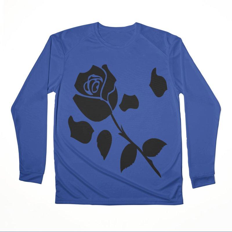 Black rose Men's Performance Longsleeve T-Shirt by cindyshim's Artist Shop