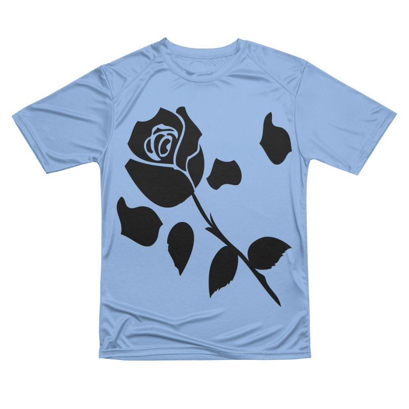 Black rose Women's Performance Unisex T-Shirt by cindyshim's Artist Shop