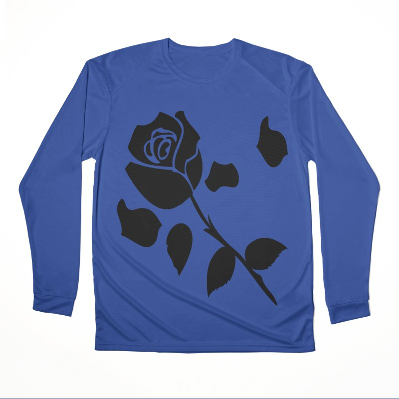 Black rose Women's Performance Unisex Longsleeve T-Shirt by cindyshim's Artist Shop