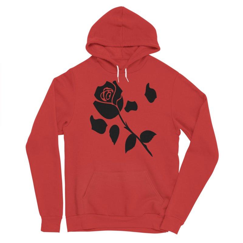 Black rose Women's Pullover Hoody by cindyshim's Artist Shop