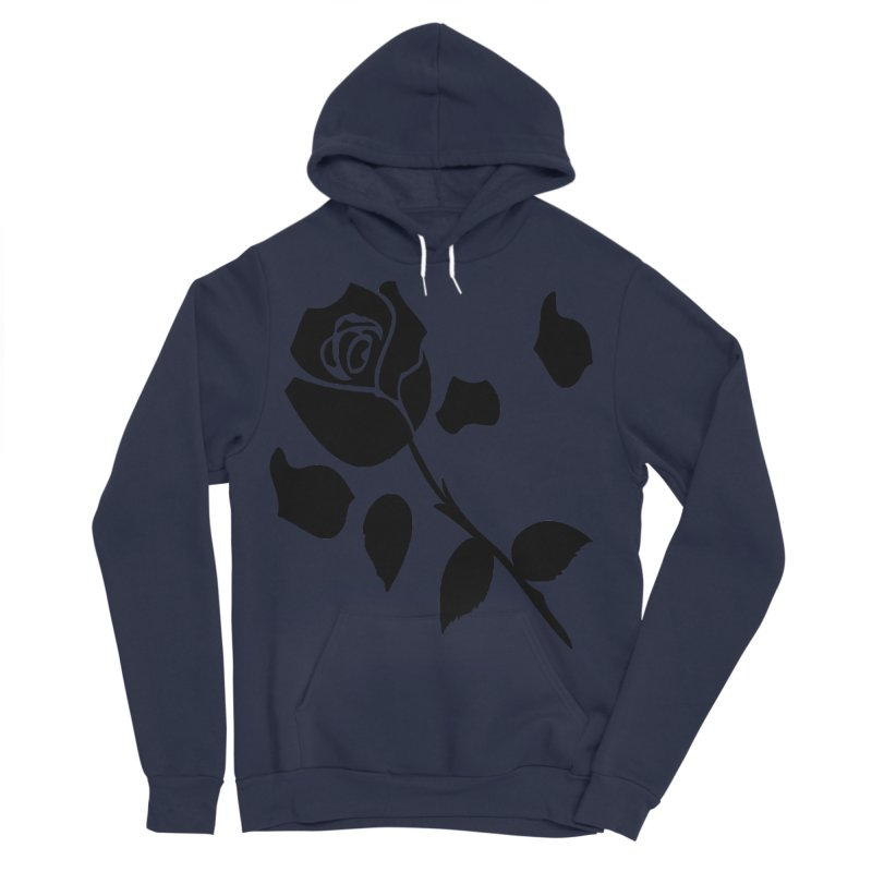 Black rose Men's Sponge Fleece Pullover Hoody by cindyshim's Artist Shop