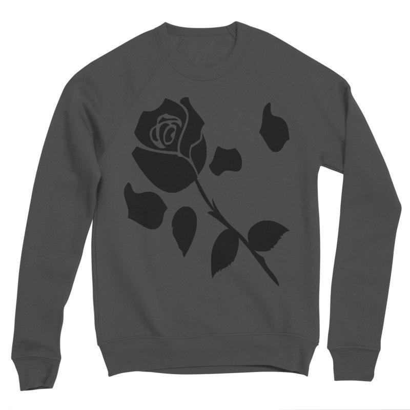 Black rose Men's Sponge Fleece Sweatshirt by cindyshim's Artist Shop