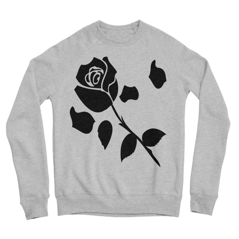 Black rose Women's Sponge Fleece Sweatshirt by cindyshim's Artist Shop